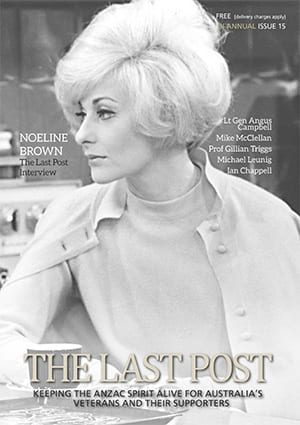 Noeline Brown on Cover of The Last Post Magazine