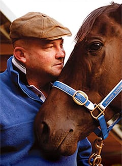 Peter Moody and famous horse Black Caviar