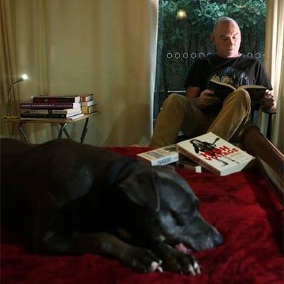 Writer Jeff Apter at home