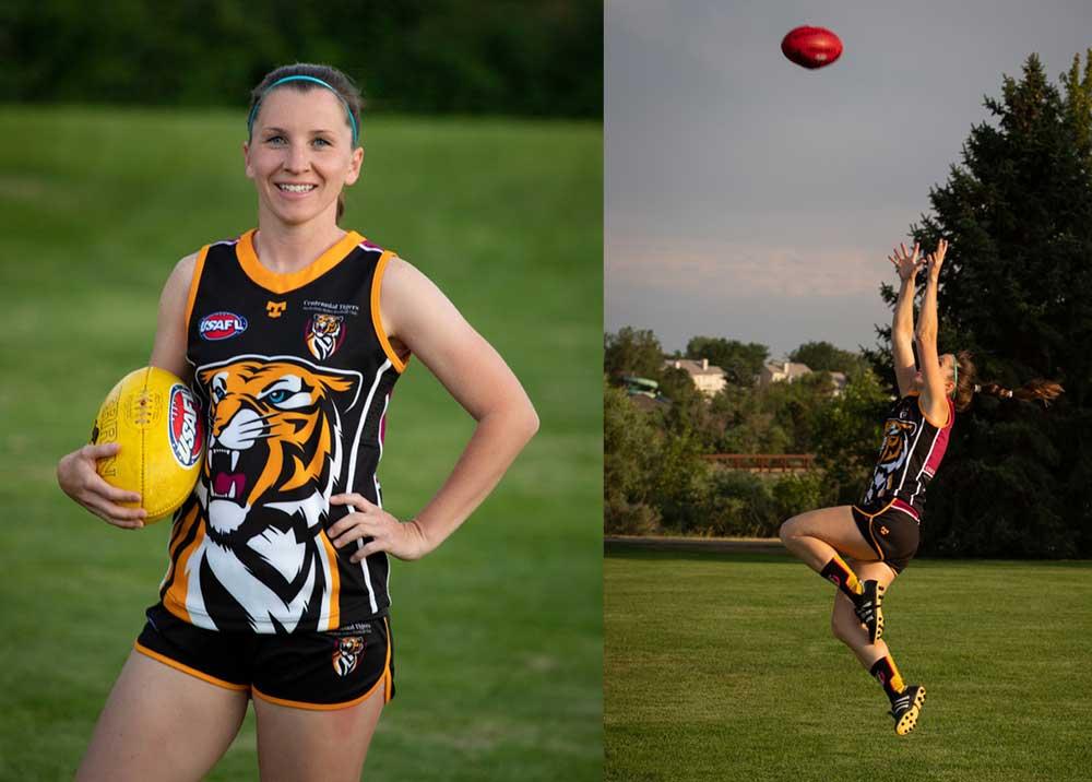 Sara Rohner US-born founder of Colorado's AFL Women's team, Centennial Tigers